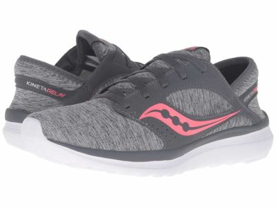 Saucony - Saucony Women's Grey/Heather/Coral Kineta Relay Running Shoes
