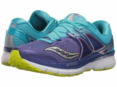 Saucony - Saucony Women's Purple/Blue/Citron Triumph ISO 3 Running Shoes