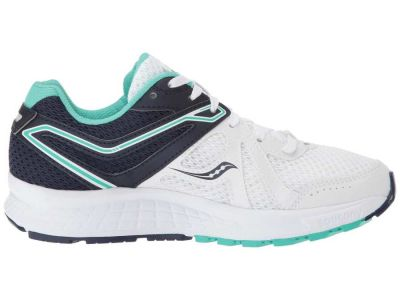 Saucony - Saucony Women's White/Navy/Teal Cohesion 11 Sneakers Athletic Shoes 897908534206