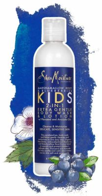 Shea Moisture - Shea Moisture Marshmallow Root & Blueberries Kids 2-In-1 Extra Gentle Body Wash & Lotion 8 oz