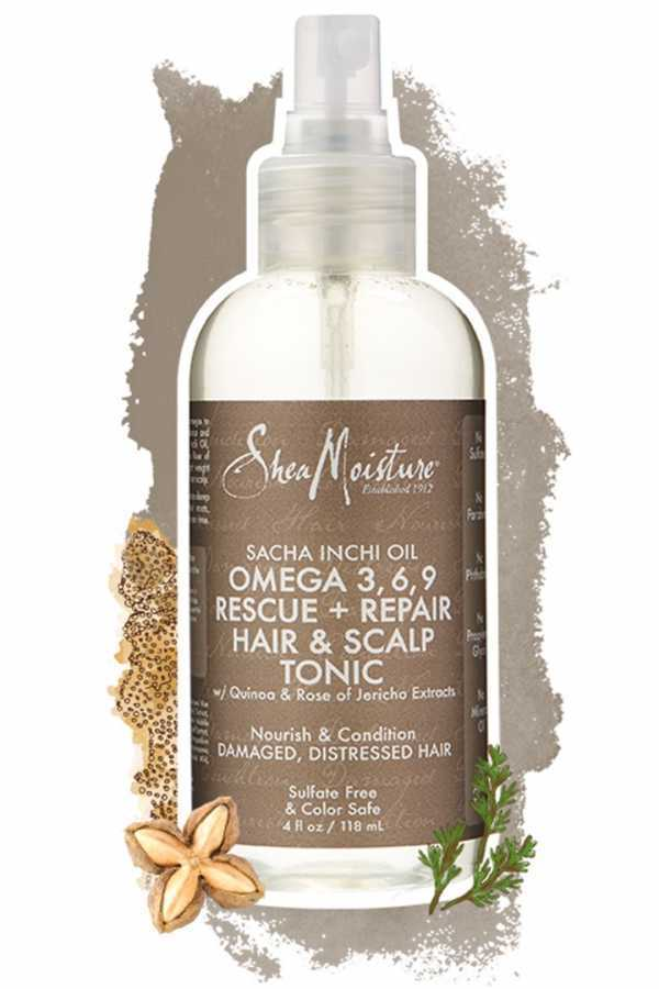Shea Moisture Sacha Inchi Oil Omega-3-6-9 Rescue & Repair Hair & Scalp Tonic 4 oz