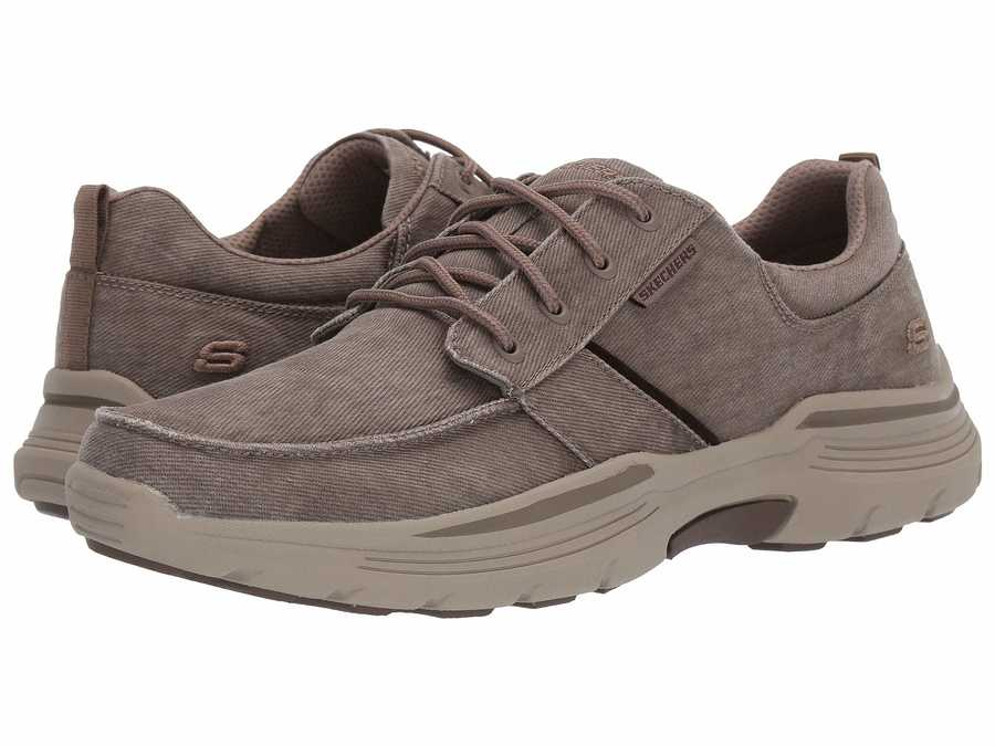 Skechers Men Beige Expended Bermo Lifestyle Sneakers