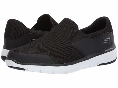 Skechers - Skechers Men Black Flex Advantage 3.0 Osthurst Lifestyle Sneakers