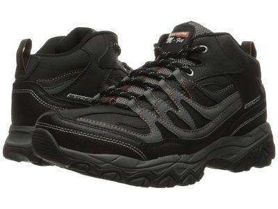 Skechers - Skechers Men Black/Charcoal Afterburn M. Fit Mid Hikingclimbing Shoes