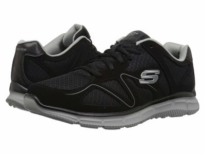 Skechers - Skechers Men Black/Gray Satisfaction Flash Point Athletic Shoes