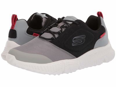 Skechers - Skechers Men Black/Gray Zubazz Lifestyle Sneakers