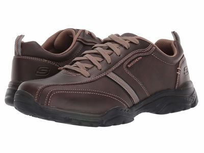 Skechers - Skechers Men Brown Relaxed Fit®: Rovato - Larion Lifestyle Sneakers