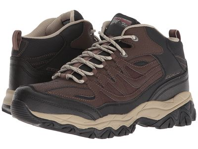 Skechers - Skechers Men Brown/Black Afterburn M. Fit Mid Hikingclimbing Shoes
