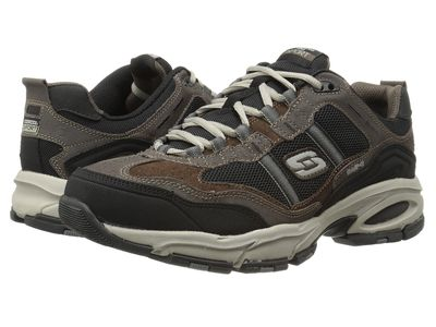 Skechers - Skechers Men Brown/Black Vigor 2.0 Trait Lifestyle Sneakers