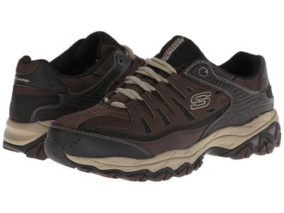 Skechers - Skechers Men Brown/Taupe Afterburn M. Fit Athletic Shoes