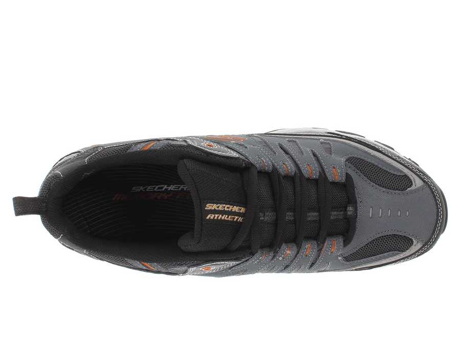 Skechers Men Charcoal Afterburn M. Fit Athletic Shoes