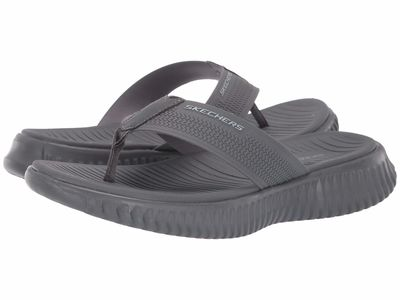 Skechers - Skechers Men Charcoal Elite Flex Coastal Mist Flip Flops
