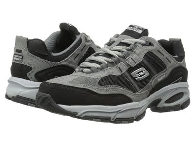 Skechers - Skechers Men Charcoal/Black Vigor 2.0 Trait Lifestyle Sneakers