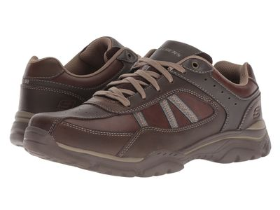 Skechers - Skechers Men Chocolate Relaxed Fit Rovato - Texon Lifestyle Sneakers