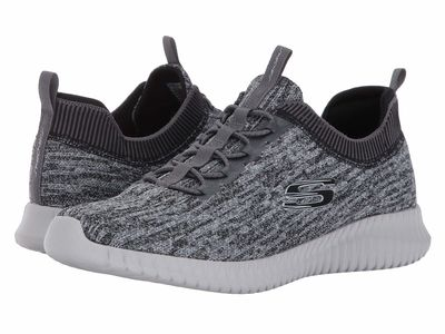 Skechers - Skechers Men Gray/Black Elite Flex Hartnell Lifestyle Sneakers