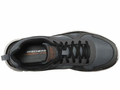 Skechers - Skechers Men Gray/Navy Track Scloric Athletic Shoes