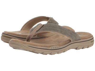Skechers - Skechers Men Khaki Relaxed Fit®: Evented - Rosen Flip Flops