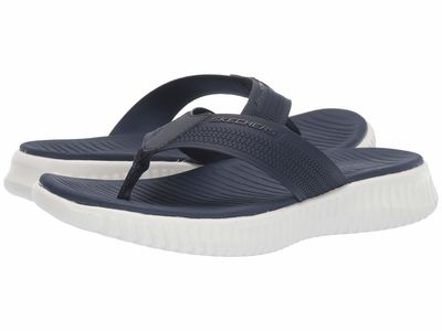 Skechers - Skechers Men Navy Elite Flex Coastal Mist Flip Flops