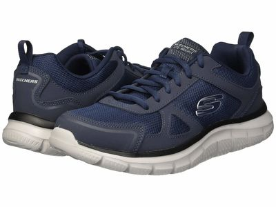 Skechers - Skechers Men Navy Track Scloric Athletic Shoes