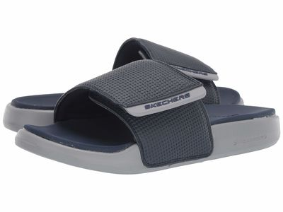 Skechers - Skechers Men Navy/Gray Gambix 2.0 Active Sandals
