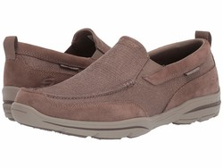 Skechers Men Taupe Harper Mezo Loafers - Thumbnail