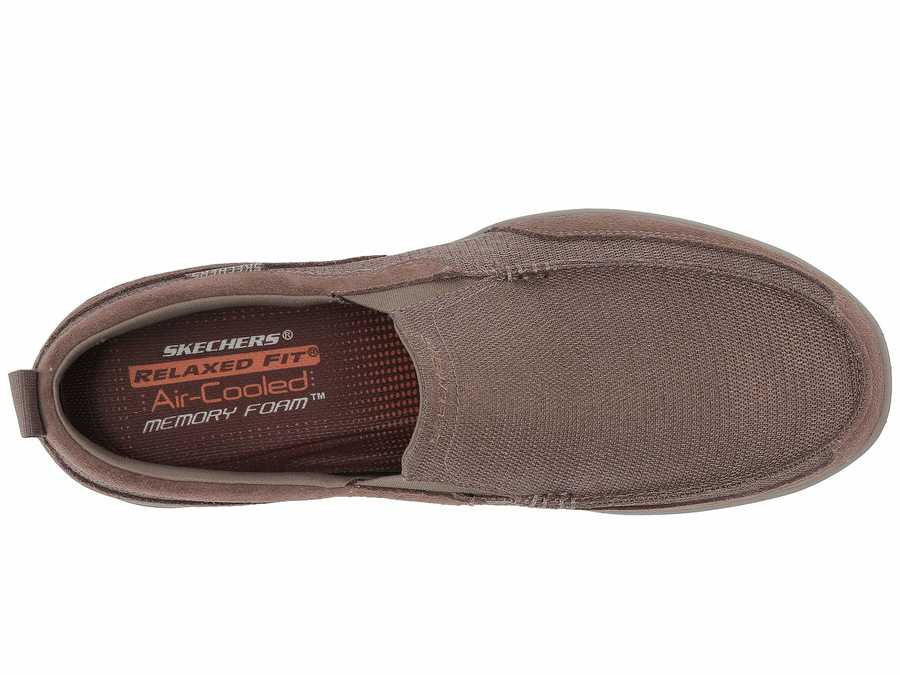 Skechers Men Taupe Harper Mezo Loafers