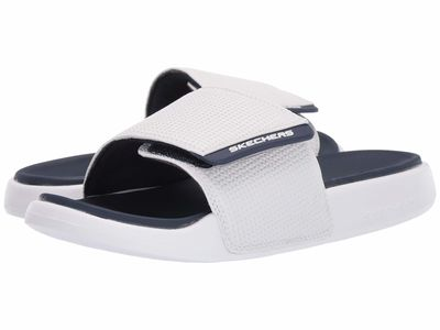 Skechers - Skechers Men White/Navy Gambix 2.0 Active Sandals
