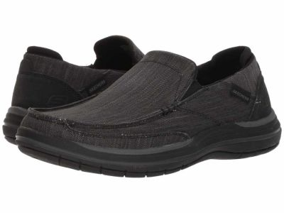 Skechers - SKECHERS Men's Black Classic Fit Elson - Amster Loafers