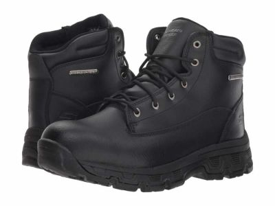 Skechers - SKECHERS Men's Black Relaxed Fit Morson Sinatro Hiking Sport Boots