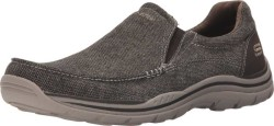 SKECHERS Men's Brown Canvas Expected - Avillo Sneakers Athletic Shoes 826829017344 - Thumbnail