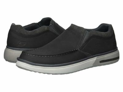 Skechers - SKECHERS Men's Charcoal Folten - Rison Loafers