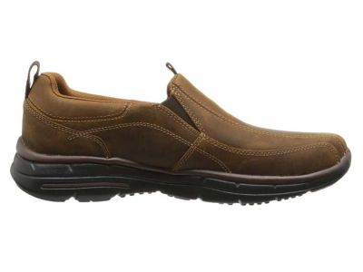 Skechers - SKECHERS Men's Dark Brown Glides Dockland Loafers 8604015325