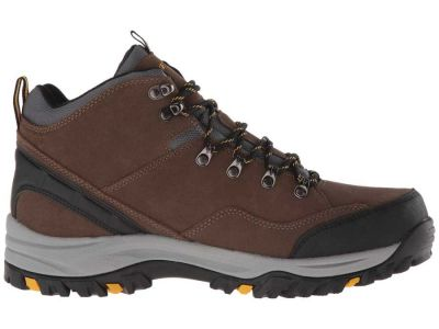 Skechers - SKECHERS Men's Khaki Suede Relaxed Fit: Relment - Pelmo Hiking Sport Boots 88305442802