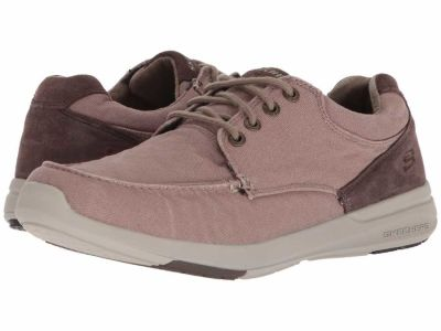 Skechers - SKECHERS Men's Light Brown Relaxed Fit: Elent - Arven Boat Shoes