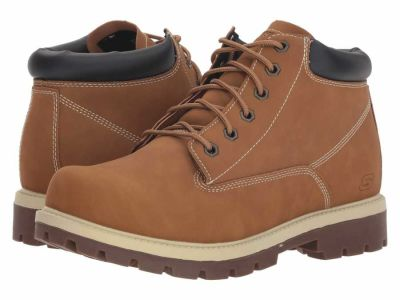 Skechers - SKECHERS Men's Wheat Relaxed Fit Toric Amado Lace Up Boots
