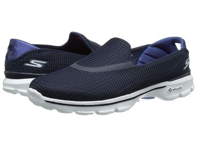 Skechers Performance - Skechers Performance Women Navy/White Go Walk 3 Athletic Shoes