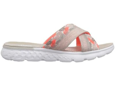 Skechers - SKECHERS Performance Women's Natural/Coral On-The-Go 400 - Tropical Sandals 882256917707