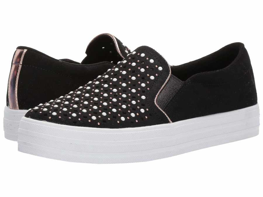 Skechers Street Women Black Double Up - Stepping Stones Lifestyle Sneakers