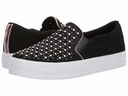 Skechers Street Women Black Double Up - Stepping Stones Lifestyle Sneakers - Thumbnail