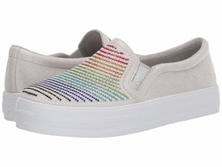 Skechers Street Women White Multi Double Up - Roy G Biv Lifestyle Sneakers - Thumbnail