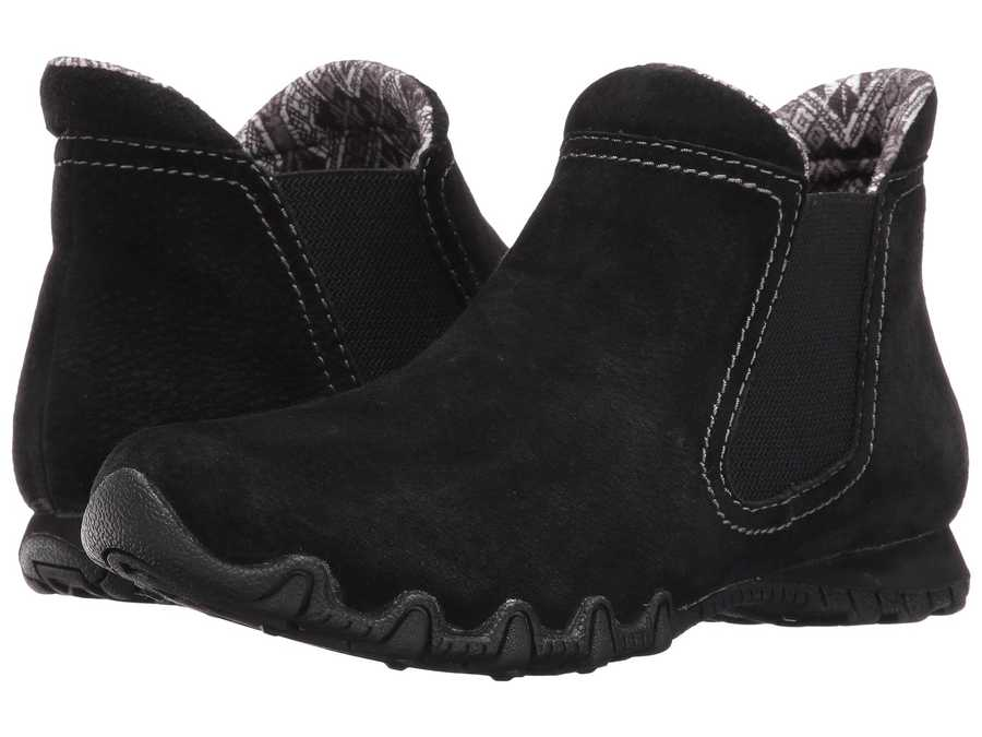 Skechers Women Black Bikers - Londoner Chelsea Boots