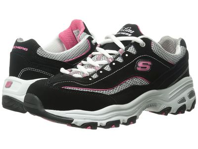 Skechers - Skechers Women Black D'Lites - Life Saver Lifestyle Sneakers