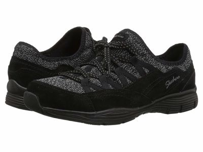 Skechers - Skechers Women Black Seager Zip Line Athletic Shoes