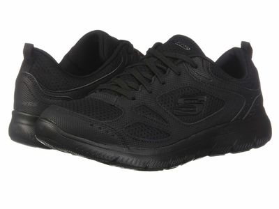Skechers - Skechers Women Black Summit - Suited Lifestyle Sneakers