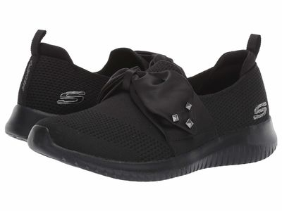 Skechers - Skechers Women Black Ultra Flex - Satin Night Lifestyle Sneakers