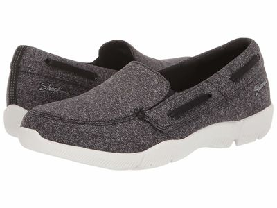 Skechers - Skechers Women Black/White Be-Lux - Easily Done Boat Shoes