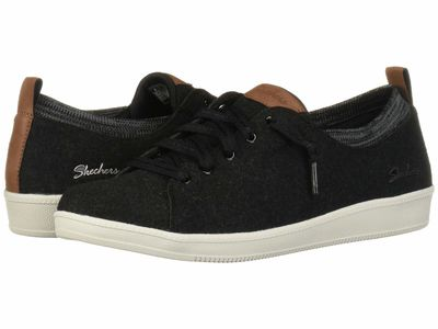 Skechers - Skechers Women Black/White Madison Ave Lifestyle Sneakers