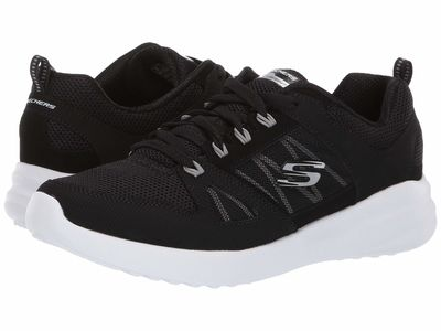 Skechers - Skechers Women Black/White Skybound Lifestyle Sneakers
