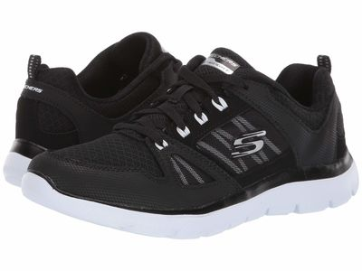 Skechers - Skechers Women Black/White Summit - New World Lifestyle Sneakers