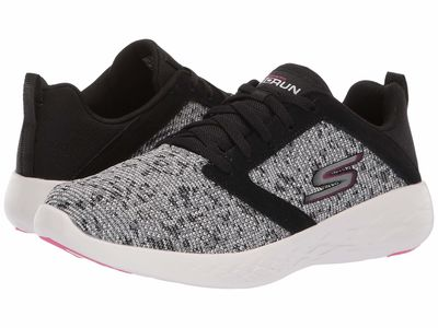 Skechers - Skechers Women Black/White/Pink Go Run 600 Athletic Shoes